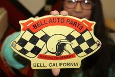 Bell Auto Parts Car Racing Equipment California Gas Oil Porcelain Metal Sign