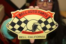 Bell Auto Parts Car Racing Equipment California Gas Oil Porcelain Met 00006000 al Sign
