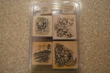STAMPIN UP Always on My Mind Wood Rubber Stamp Set of 6 Lighthouse Mailbox (B)