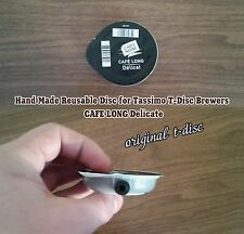 Hand Made Reusable Disc for Tassimo T-Disc (CAFE LONG Delicate)