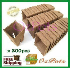 60mm Square  Jiffy Pot  x 200pcs - Tray Friendly,Propagation & Seedling (PC)