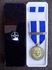 GENUINE NATO MEDAL FOR KOSOVO IN NATO BOX OF ISSUE - EXCELLENT CONDITION