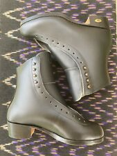 Riedell 355 Silver Star Men's Size 6 Black Leather Ice/Figure Skate Boots
