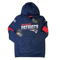 Nike Dri-Fit Therma New England Patriots Hoodie Pullover Sweatshirt Womens 14/16