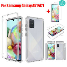For Samsung Galaxy A51/A71 Hybrid Clear Crystal Hard Case Cover+Screen Protector