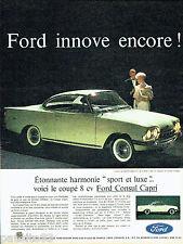 PUBLICITE ADVERTISING 046  1961  Ford  la Consul Capri 315
