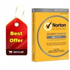 Norton Security Premium 10 Devices Key Card | Download (Best Antivirus Software)