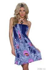 Vestidos de mujer de color principal azul de poliéster talla XS