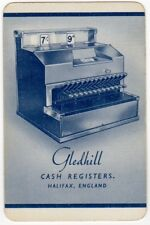 Playing Cards 1 Single Swap Card Old Vintage GLEDHILL CASH REGISTERS Advertising