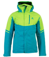 Salomon Rise Men's Ski Jacket Blue Green Mens Size UK XXL *REF107