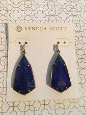 Kendra Scott 'Carla' Drop/Dangle Antique Brass Earrings in Blue Lapis