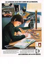 PUBLICITE  1974   MAZDA   AMPOULES  OPALIA 1