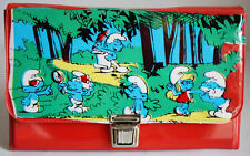 AMAZING ORIGINAL VINTAGE 80'S SMURFS PENCIL CASE BAG #5 ULTRA RARE BRAND NEW !