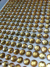 560pc 3mm GOLD Rhinestone Diamond Crystal Bling Decor Sticker Auto Cars Iphone