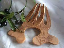 Olivenholz Salatbesteck Holz Handarbeit Baum ca. 19 x 8,5 x 1,5cm