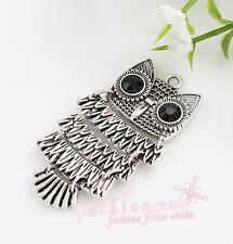 10pc Fresh Ancient Silver Plated Owl Charms 26X47mm 1
