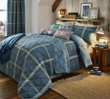 Édredons et couvre-lits verts en 100% coton