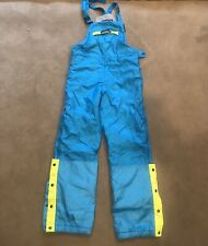 Vtg 90s NEVICA Ski Suit Snow Bib pants snowsuit Size 40 Blue Yellow
