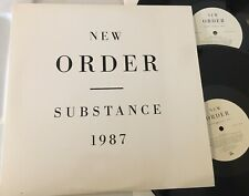 NEW ORDER - SUBSTANCE 1987 - ORIGINAL QWEST RECORDS 2LP embossed cover EX/EX