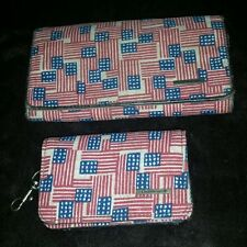 Longaberger flag wallet, Americana old glory homestead, july 4th, lot