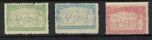 venezuela stamps - 1896 map issue mint hinged fresh - part set sg169=173 HCV