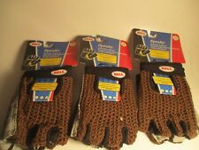 """[3] PAIRS BELL """"OPEN AIR""""  BICYCLE GLOVES SMALL/MEDIUM BROWN"""