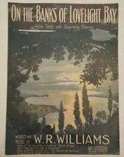 On the Banks of Lovelight Bay W.R. Williams 1900's Waltz 1913