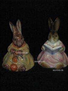 +# A001971_05 Goebel Archiv Cortendorf Buchstützen Zwei 2 Hasen Bunny