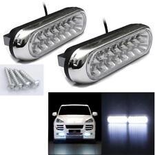 2x Universal 16 LED Car Van DRL Day Driving Daytime Running Fog White Light Lamp