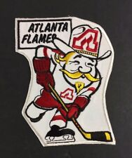 Vintage 1974 Atlanta Flames  6 1/2 Inch NHL Hockey CARICATURE Jersey Set Patch