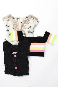 Malibu Sugar Munster Childrens Girls Knit Top Jacket Size 9-10 12 Medium Lot 3