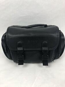 Sony Camera Bag / Camcorder Bag Vintage Faux Leather Black Padded Bag