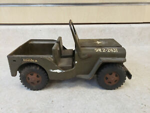 Vintage 1960's Pressed Steel Tonka Army Jeep *LOOK*  FREE SHIPPING