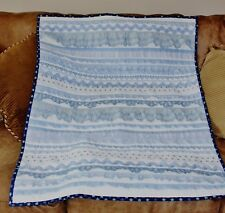 Patriotic Ruffles & Lace Red White & Blue Handmade Quilt REDUCED
