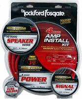 NEW Rockford Fosgate RFK4X, 4 Gauge Complete Amplifier Installation Kit