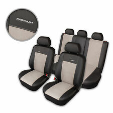Premium Kunstleder Sitzbezüge Sitzbezug Schonbezüge für Audi A6 Grau Komplettset