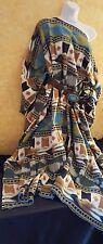 Tribal Native American Southwestern Unisex Maxi Coat Dress Poncho Party Bridal