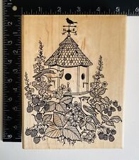 Embossing Arts Birdhouse With Weather Vane Rubber Stamp 576S