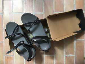 TEVA Womens Sz.10/41 VERRA Black Sandals + Box Adjustable Worn Once! RRP:$129.99