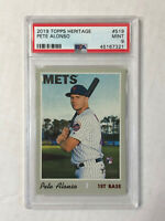PETE ALONSO 2019 Topps Heritage HIGH NUMBER RC #512! PSA MINT 9! QTY!!! METS!