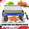 """18"""" Food Tray Film Wrapper Wrapping Machine Sealing with Film Teflon Plate Keep"""