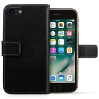 Apple iPhone 8 & 8 Plus Case Real Genuine Leather Slim Folio Flip Wallet Cover