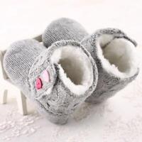 Baby Girls Soft Sole Crib Button Cotton Flats Warm Boot Toddler Prewalke Shoes
