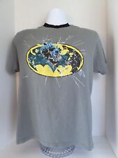 Boy's Batman Short Sleeved T-Shirt Gray size-(14) 100% Cotton Graphic Tee