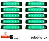 10 pcs GREEN 24V 6 LED Side Rear Marker Indicators Lights Lamp Truck Trailer Bus