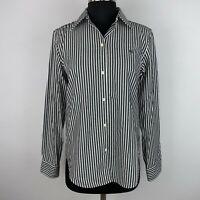 Lauren Ralph Lauren Non-Iron Womens S Striped Collared Button Down Shirt Cotton