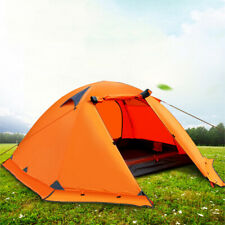 Portable Waterproof 2 People Dual Door Tent Set Screen Porch for Camping Hiking