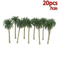 20 X Coconut Palm Model Trees Layout Forest Beach Diorama Scenery 1:150 Scale