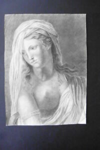 FRENCH NEOCLASSICAL SCHOOL CA. 1800 - SPECIAL PORTRAIT YOUNG WOMAN - CHARCOAL