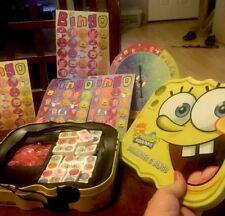 Sponge bob Squarepants Dominoes And Bingo Game In Tin